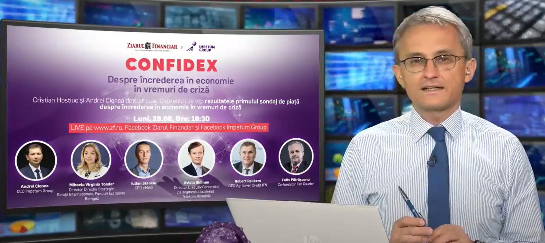 Confidex Q2: Rezultatele primului studiu despre încrederea în economie